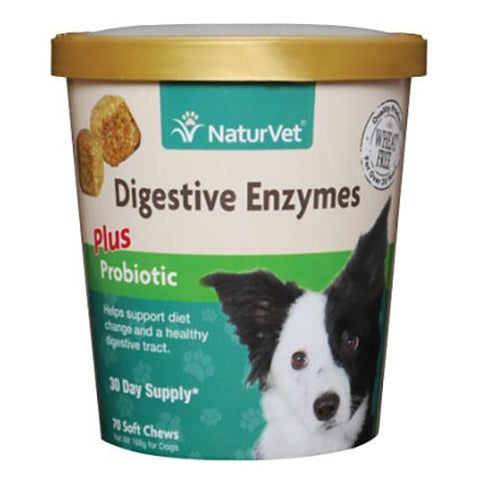NaturVet Naturals Digestive Enzymes for Dogs