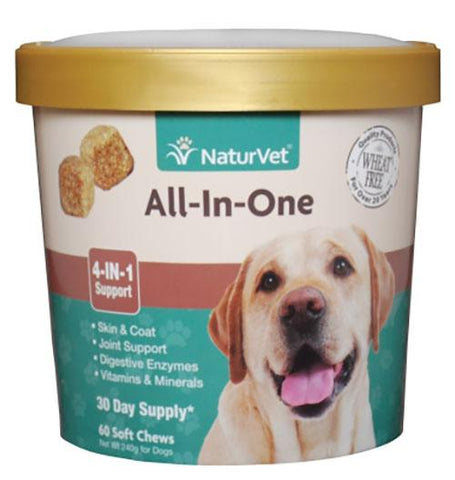 NaturVet All-in-One Soft Chews 60 Soft Chews