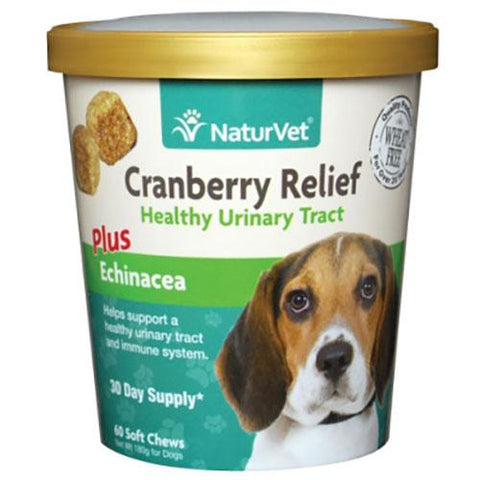 NaturVet Cranberry Relief Healthy Urinary Tract for Dogs 60 Soft Chews