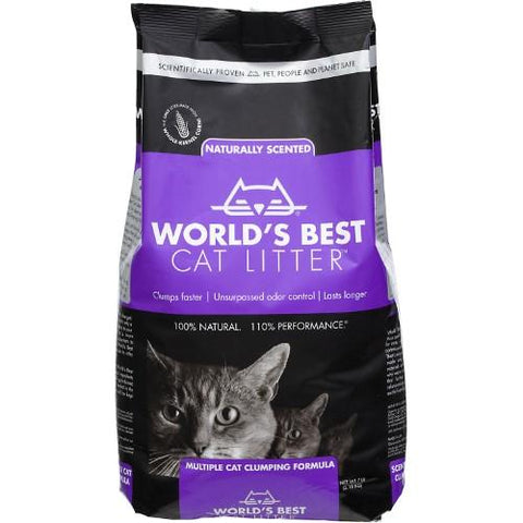World's Best Cat Litter Cat Lavender Scented Multiple Cat Clumping Formula 28lb