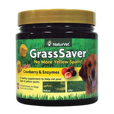 NaturVet GrassSaver Cranberry & Enzymes Dog Supplement 120 Soft Chews