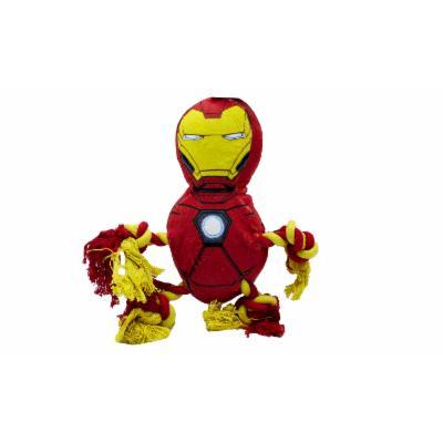 Marvel Comics Squeaky Rope Knot Buddy Dog Toy Iron Man