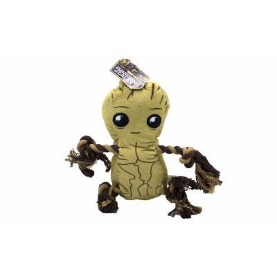Marvel Comics Squeaky Rope Knot Buddy Dog Toy Guardians of the Galaxy Groot