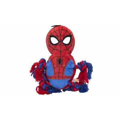 Marvel Comics Squeaky Rope Knot Buddy Dog Toy Spiderman