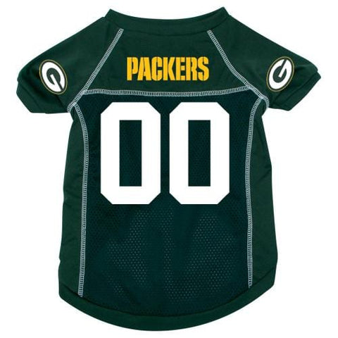Green Bay Packers Dog Jersey 2-DOG-Hunter-X-LARGE-Pets Go Here green, hunter, hunter green, jersey, l, m, nfl, s, sports, sports jersey, xl, xs Pets Go Here, petsgohere