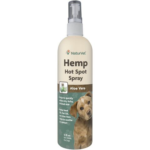 NaturVet Hemp Hot Spot Spray for Dogs