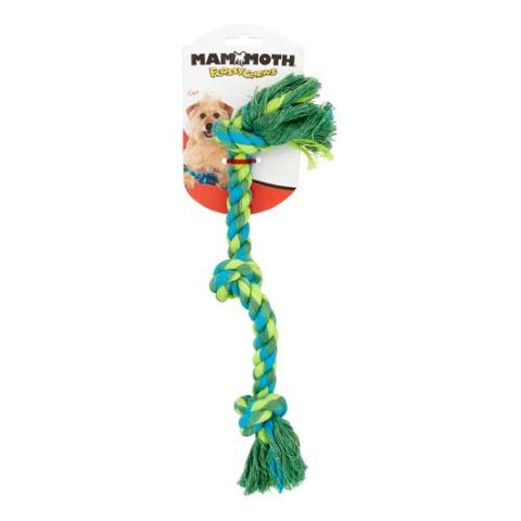 Mammoth Flossy Chew 3 Knot Rope Bone Dog Toy