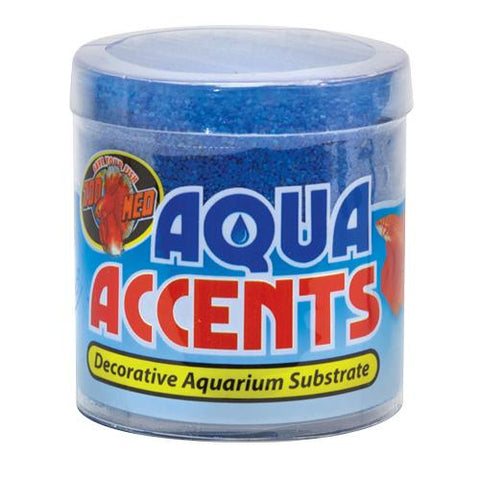 Zoo Med Aqua Accents Decorative Substrate Sand Ballistic Blue 0.5 Lb