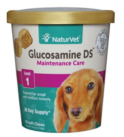 NaturVet Glucosamine DS Plus Level 1 for Dogs 70 Soft Chews