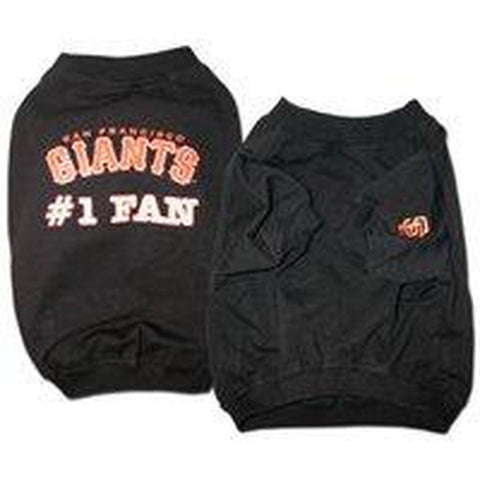 San Francisco Giants #1 Fan Dog Shirt-DOG-Sporty K9-LARGE-Pets Go Here l, m, s, sports, sports shirt, sporty k9, xl, xs Pets Go Here, petsgohere