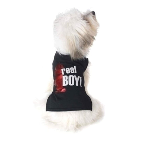 PetRageous Real Boy Dog Shirt black, dog, dog clothes, fashionable, petrageous, trendy Pets Go Here, petsgohere
