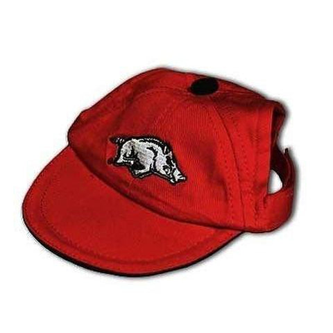 Arkansas Razorbacks Dog Cap-DOG-Pets First-MEDIUM-Pets Go Here