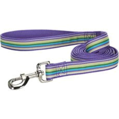 ESC Purple Striped Dog Leash 6' bright, dog, dog leash, leash, purple, trendy Pets Go Here, petsgohere