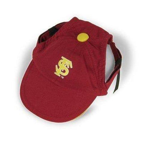 Florida State Seminoles Dog Hat-DOG-Sporty K9-SMALL-Pets Go Here ball cap, hat, l, m, m/l, ncaa, s, s/m, sports, sports hat, xl, xs Pets Go Here, petsgohere