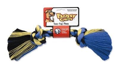 Mammoth Flossy Chew Rope Bone Dog Toy Multi 12""