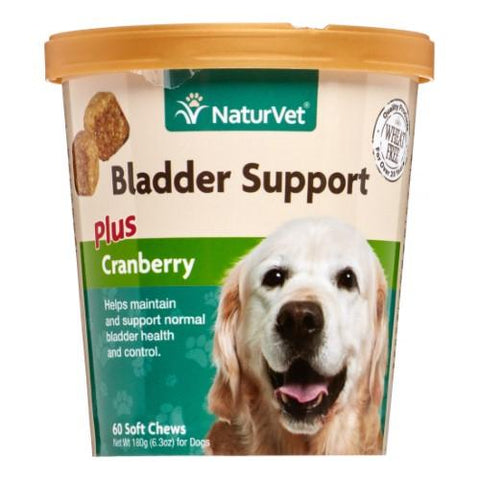 NaturVet Bladder Support Plus Cranberry for Dogs 60 Soft Chews