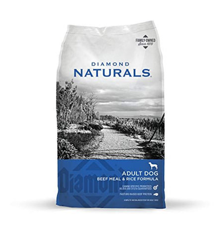 Diamond Naturals Real Meat Recipe Dry Dog Food ADULT Dog BEEF AND RICE 40 LB 40 LB, beef, beef and rice, chicken, diamond naturals, dog, dog food, dry dog food, food, natural Pets Go Here, petsgohere