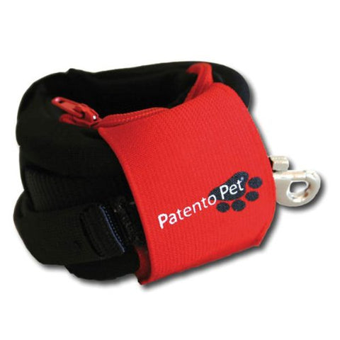 PatentoPet Hands Free Leash BLACK-DOG-PatentoPet-Pets Go Here 4 ft, black, nylon, patentopet, reflective Pets Go Here, petsgohere