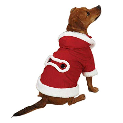 ESC Jolly Santa Dog Jacket RED-DOG-East Side Collection-LARGE-Pets Go Here dog clothes, east side collection, holiday, jacket, l, m, red, s, seasonal, xl, xs, xxs Pets Go Here, petsgohere