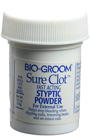 Bio-Groom Sure Clot Styptic Powder dog, gel, health, kit, miracle care, nail care, nails, pads, pet, powder, styptic Pets Go Here, petsgohere
