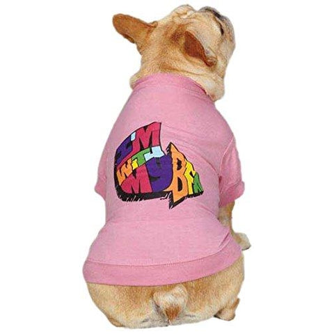 Zack and Zoey I'm With My BFF Dog Shirt PINK-DOG-Zack & Zoey-X-LARGE-Pets Go Here l, m, pink, s, shirt, xl, xs, zack & zoey Pets Go Here, petsgohere