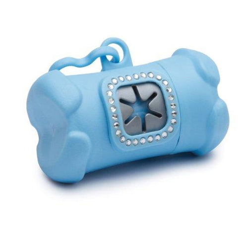 Clean Go Pet Royal Rhinestone Waste Bag Holder, Prince, Blue