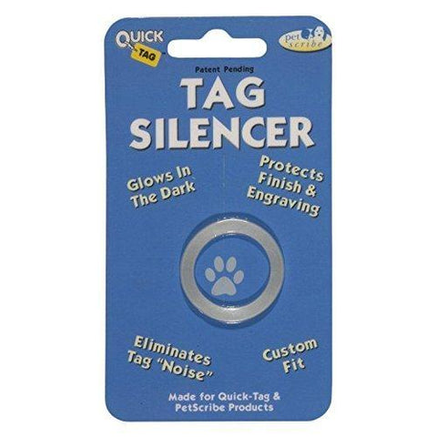 Quick Tag Circle-Shaped Silencer ID Tag-DOG-Quick-Tag-Pets Go Here cat tag, collar tag, dog tag, quick-tag, red, rubit, safety Pets Go Here, petsgohere