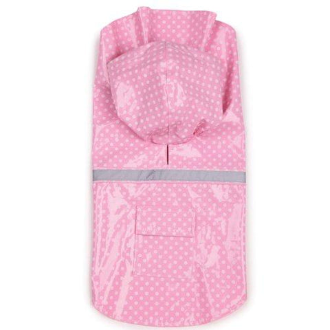 ESC Polka Dot Dog Rain Jacket- PINK-DOG-East Side Collection-SMALL-Pets Go Here east side collection, fashionable, jacket, l, pink, polka dot, rain, trendy Pets Go Here, petsgohere