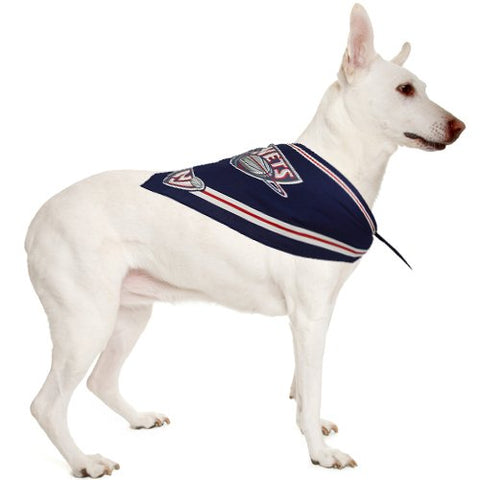 New Jersey Nets Cotton Dog Bandana NAVY BLUE M/L-DOG-Sporty K9-Pets Go Here bandana, blue, dc, dog clothes, jersey, navy, nba, sports, sports bandana, sporty k9 Pets Go Here, petsgohere