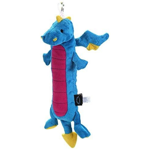 GoDog Skinny Dragons BLUE LARGE with Chew Guard-DOG-Quaker Pet Group-Pets Go Here blue, chew, dog toy, fabric, plush, squeaker, toy Pets Go Here, petsgohere