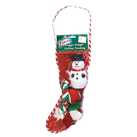 Zanies Doggie Delight Holiday Stocking Festive Holiday Dog Toy
