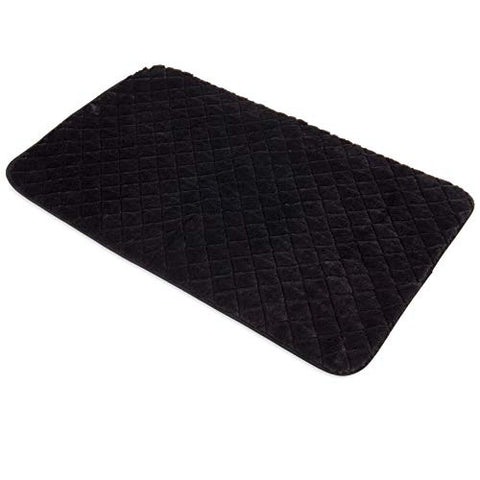 Snoozzy Quilted Crate Mat BLACK Black 18X13
