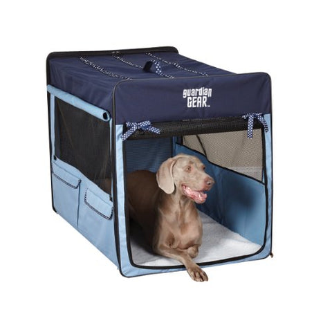 Guardian Gear Collapsible Pet Crate BLUE