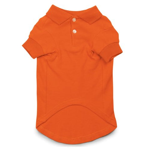 Casual Canine Basic Dog Polo ORANGE-DOG-Casual Canine-SMALL-Pets Go Here casual canine, orange, s, s/m, shirt, xs Pets Go Here, petsgohere