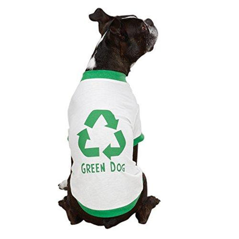 Casual Canine Green Recycle Dog Shirt-DOG-Casual Canine-X-SMALL-Pets Go Here casual canine, green, l, organic, white, xl, xs, xxs Pets Go Here, petsgohere