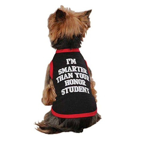 Zack and Zoey Honor Student Dog Tank Shirt BLACK-DOG-Zack & Zoey-SMALL-Pets Go Here
