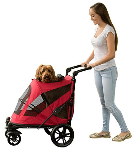 Pet Gear Excursion Pet Stroller-DOG-Pet Gear-CANDY RED-Pets Go Here