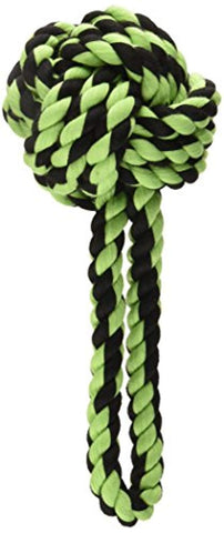 Multipet Nuts for Knots with Tug Rope Dog Toy, 3.5-Inch Colors Vary