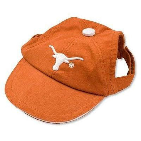 Texas Longhorns Dog Hat-DOG-Sporty K9-LARGE-Pets Go Here ball cap, hat, l, m, ncaa, s, sports, sports hat, xl, xs Pets Go Here, petsgohere