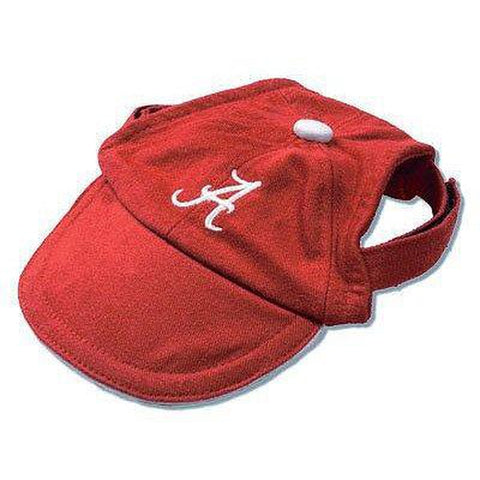 Alabama Crimson Tide Dog Hat-DOG-Sporty K9-SMALL-Pets Go Here ball cap, dc, hat, l, m, m/l, ncaa, ncaa hat, s, s/m, sports, sports hat, sporty k9, xl, xs Pets Go Here, petsgohere
