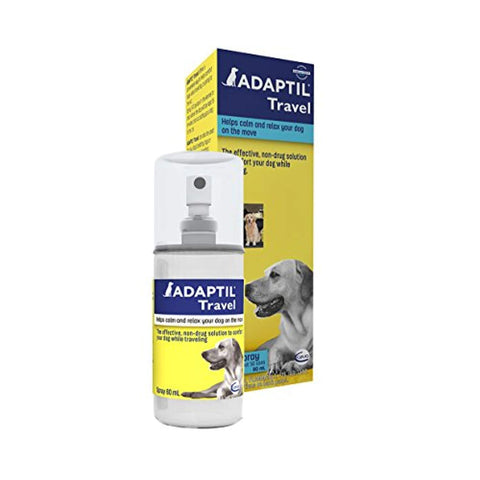 Ceva Adaptil Travel Dog Calming Spray anxiety, ceva, feliway, stress, stress relief Pets Go Here, petsgohere