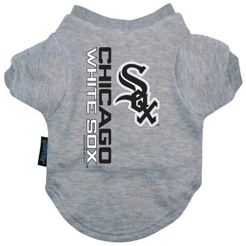 Chicago White Sox Dog Shirt GREY-DOG-Hunter-LARGE-Pets Go Here