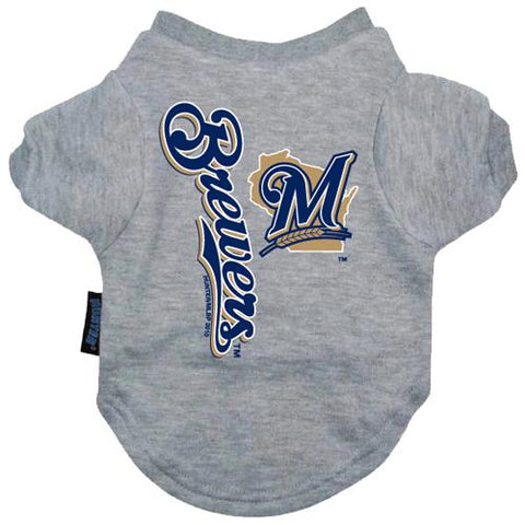 Milwaukee Brewers Dog Shirt-DOG-Hunter-Pets Go Here hunter, mlb, sports shirt Pets Go Here, petsgohere