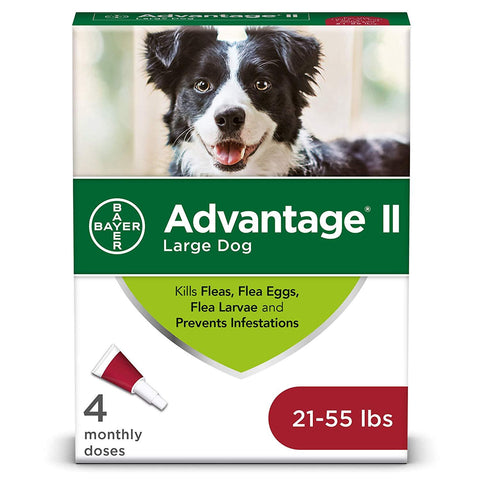 Advantage II Flea and Lice Treatment Dogs 21-55 LB