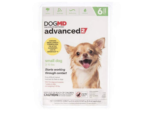 DogMD Maximum Defense Advanced 2 Flea Treatment 11-20 lb, 21-55 lb, dog, dog md, flea, over 55 lb, treatment, under 10 lb Pets Go Here, petsgohere