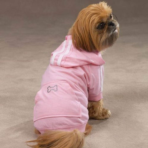 Casual Canine Bling Bone Dog Hoodie baby pink, bling, casual canine, dog, fashionable, hoodie, light pink, pastel pink, pink, trendy Pets Go Here, petsgohere