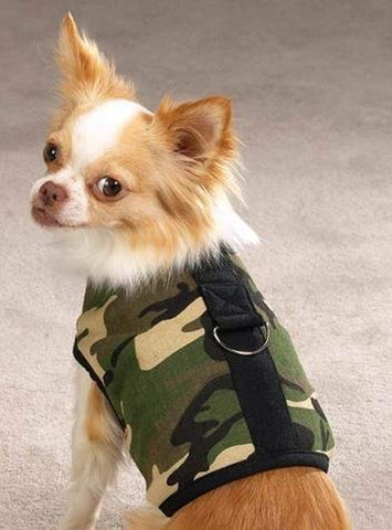 Zack and Zoey Camo Dog Harness Vest GREEN CAMO MEDIUM