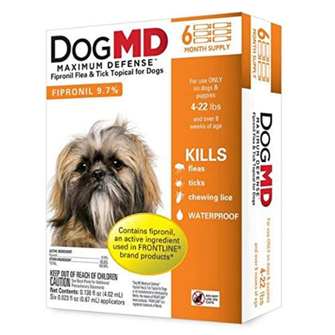 DogMD Maximum Defense Flea and Tick Treatment for Dogs 6 month, dog, flea, small, tick, treatment Pets Go Here, petsgohere