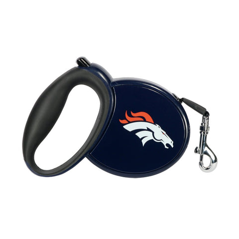 Hip Doggie Retractable Broncos Leash 13'-DOG-Hip Doggie-Pets Go Here hip doggie, leash, nfl, retractable, retractable leash Pets Go Here, petsgohere