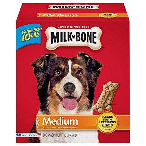Milk-Bone Original Dog Treats for Medium Dogs, 10-Pound-Milk-Bone-Pets Go Here spreadr-hidden Pets Go Here, petsgohere